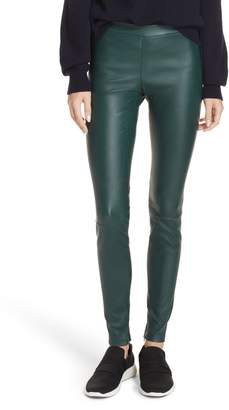 Vince Ankle Zip Leather Leggings