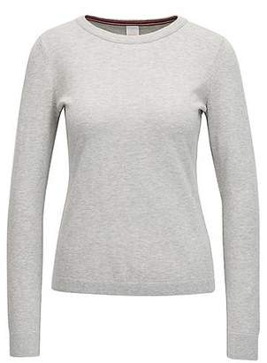HUGO BOSS Knitted sweater in a cotton blend with silk