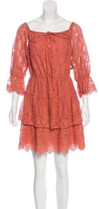 Alice + Olivia Off-The-Shoulder Embroidered Dress w/ Tags