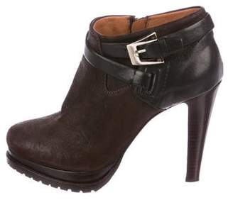 Giorgio Armani Suede Ankle-Strap Booties
