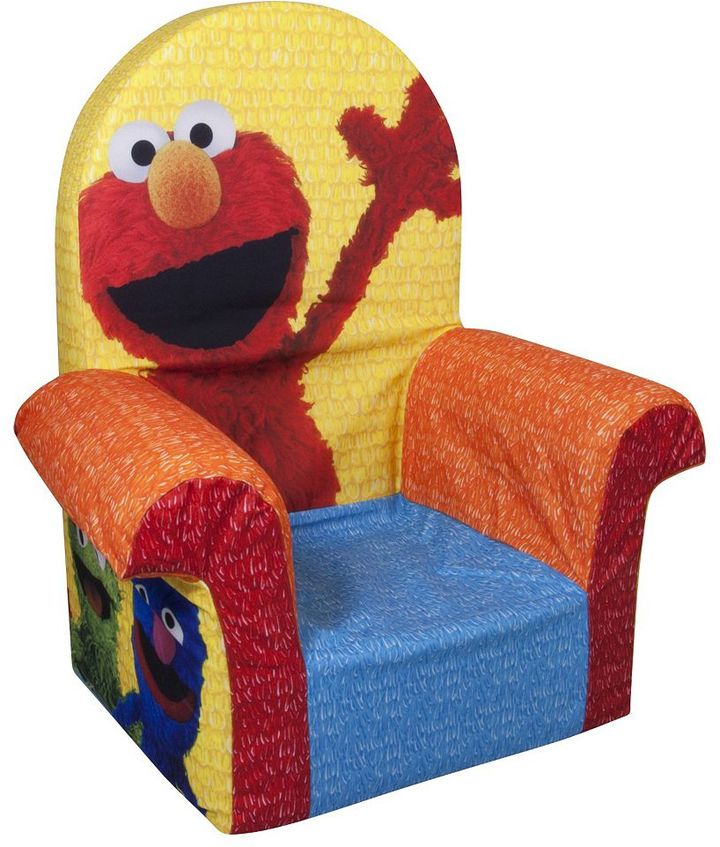 Sesame Street marshmallow foam chair by spin master
