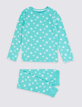 Marks and Spencer Dreamskin Cotton with Stretch Star Pyjamas (1-16 Years)