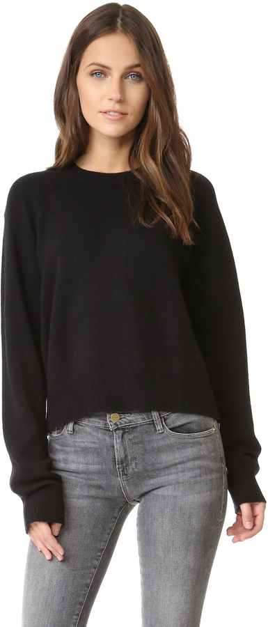 T by Alexander Wang Cashwool Crop Sweater
