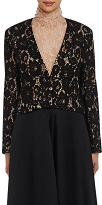 Lanvin Women's Guipure Lace Crop Jacket $2,125 thestylecure.com
