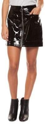 Dex Zip Front Mini Skirt