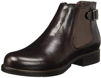 U.S. Polo Assn. Women's Sammy Chelsea Boots (Dark Brown/Bronze DKBR-BRZ)