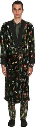 Viscose & Silk Velvet Jacquard Robe