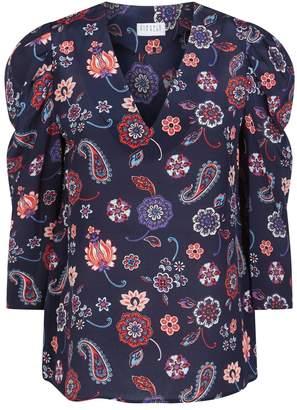 Claudie Pierlot Silk Floral Blouse