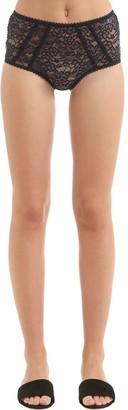 Stella McCartney Underwear Lola Adoring High Waisted Lace Briefs
