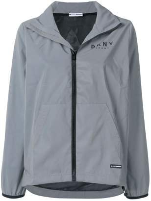 DKNY hooded logo windbreaker
