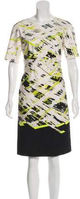 J. Mendel Printed Knee-Length Dress
