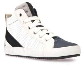 Geox Alonisso Perforated Mid Top Sneaker
