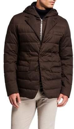 Herno Men's Techno-Wool Puffer Jacket