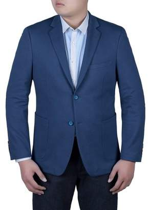 Verno Men's Royal Blue Slim Fit Fashion Blazer