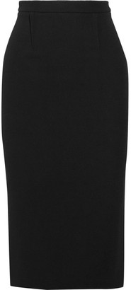 Roland Mouret - Arreton Wool-crepe Pencil Skirt - Black $875 thestylecure.com