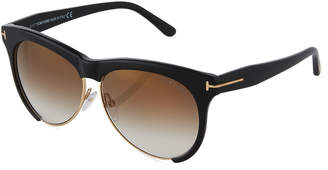 Tom Ford Leona Dual-Rimmed Sunglasses