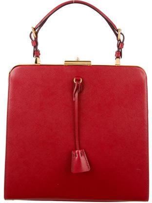 pradaPrada Saffiano Frame Bag