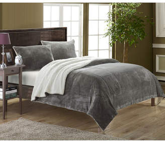 Chic Home Evie 7-Pc Queen Sherpa Blanket Bedding Set Bedding