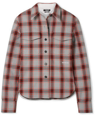 Calvin Klein Checked Twill Shirt - Red