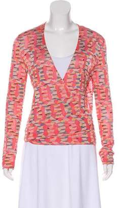 Missoni Patterned Wrap Cardigan