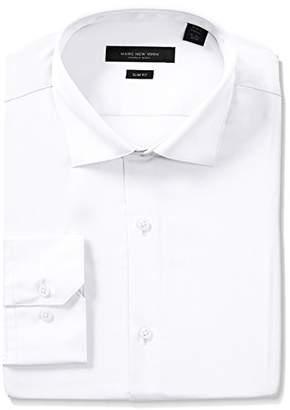Andrew Marc Men's Slim Fit Solid Dress Shirt