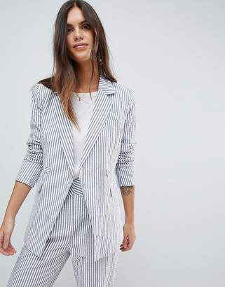 Y.A.S Stripe Summer Double Breasted Blazer Co-Ord
