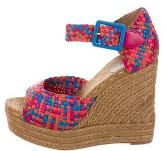 Hermes Woven Espadrille Wedges w/ Tags