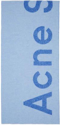 Acne Studios SSENSE Exclusive Blue Toronty Scarf