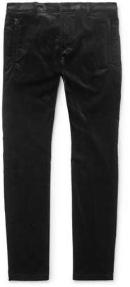 Balmain Skinny-Fit Stretch-Cotton Velvet Skinny Trousers