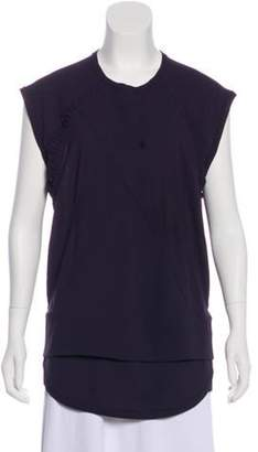 IRO Crew Neck Short Sleeve Tunic Aubergine Crew Neck Short Sleeve Tunic