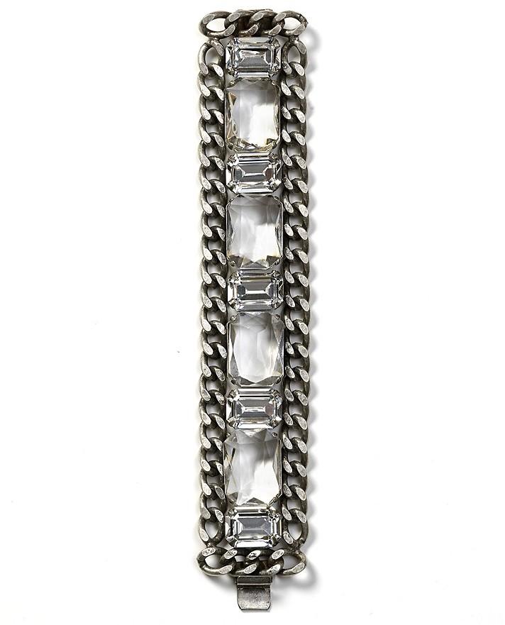 RJ Graziano Clear Stone Chain Link Bracelet