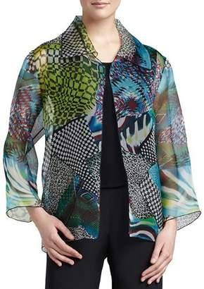 Caroline Rose Patchwork Easy Shirt/Jacket, Plus Size