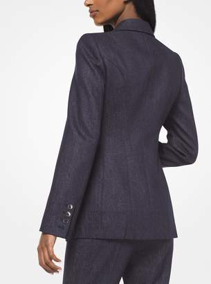 Michael Kors Wool Denim Blazer