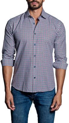Jared Lang Mini-Check Sport Shirt