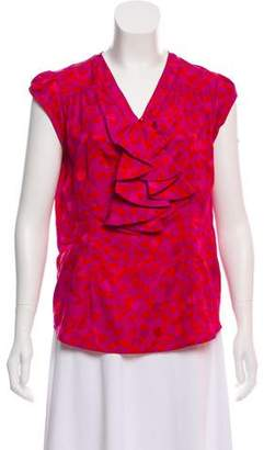 Marc by Marc Jacobs Print Cap Sleeve Top