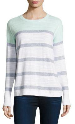 Vineyard Vines Colorblock Striped Cotton Sweater $98 thestylecure.com