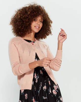 Emily And Fin Peach Pink Bonnie Long Sleeve Cardigan