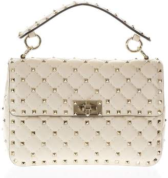 Valentino Spike Ivory Quilted Leather Bag