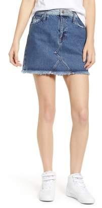 Tommy Jeans Cutoff Denim Miniskirt