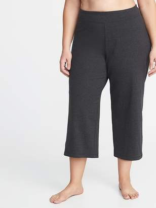 Old Navy Mid-Rise Plus-Size Wide-Leg Yoga Crops