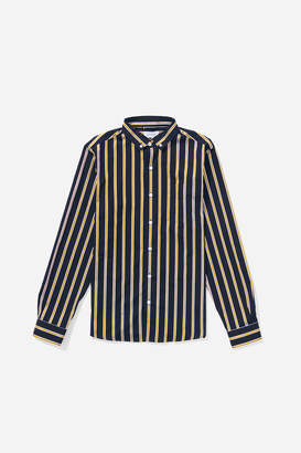 Saturdays NYC Crosby Satin Stripe Button Down Shirt