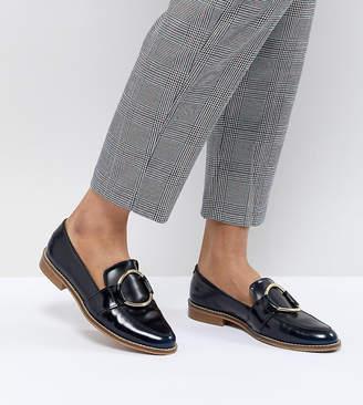 Asos Design DESIGN Magenta Leather Loafers