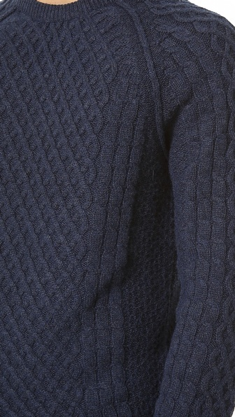 Vince Fisherman Cable Sweater