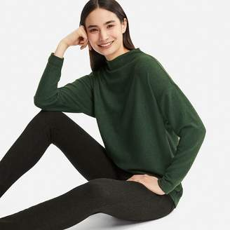 Uniqlo WOMEN Soft Knitted Fleece High Neck Long Sleeve T-shirt