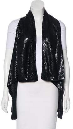 Donna Karan Sequined Cashmere Vest w/ Tags