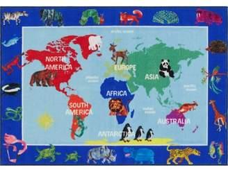 Eric Carle Home Dynamix World Map Area Rug