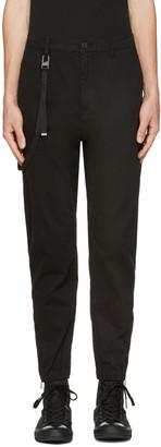 Helmut Lang Black Curved Leg Trousers $345 thestylecure.com