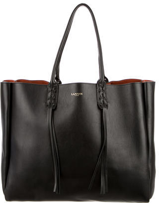 Lanvin Leather Shopper Tote w/ Tags $1,095 thestylecure.com