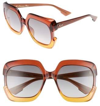 Christian Dior Gaia 58mm Square Sunglasses