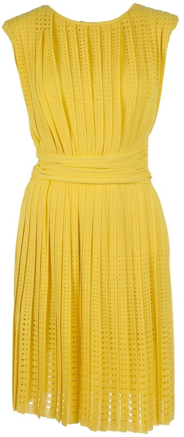 Giambattista Valli perforated pleated dress